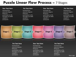 Puzzle Linear Flow Process 7 Stages 54