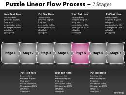 Puzzle Linear Flow Process 7 Stages 54