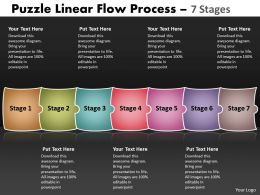 Puzzle Linear Flow Process 7 Stages