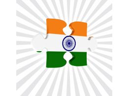 Puzzle Made By Indian Flag Stock Photo