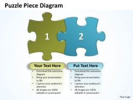 Puzzle Piece Diagram Powerpoint templates ppt presentation slides 0812