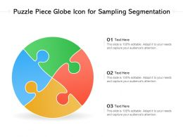 Puzzle Piece Globe Icon For Sampling Segmentation
