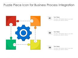 Puzzle Piece Icon For Business Process Integration