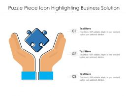 Puzzle Piece Icon Highlighting Business Solution