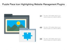 Puzzle Piece Icon Highlighting Website Management Plugins