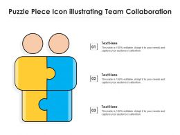 Puzzle Piece Icon Illustrating Team Collaboration