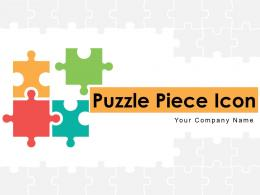 Puzzle Piece Icon Individual Connecting Business Segmentation Integration