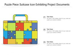 Puzzle Piece Suitcase Icon Exhibiting Project Documents
