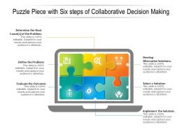 Puzzle Piece With Six Steps Of Collaborative Decision Making