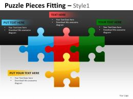 Puzzle Pieces 1 Powerpoint Presentation Slides DB