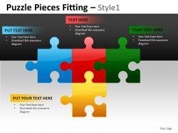 Puzzle Pieces 1 Powerpoint Presentation Slides DB