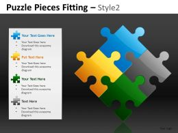 Puzzle Pieces 2 Powerpoint Presentation Slides DB