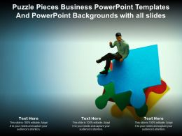 Puzzle Pieces Business Powerpoint Templates And Backgrounds With All Slides