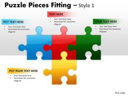 Puzzle Pieces Fitting Style 1 PPT 2