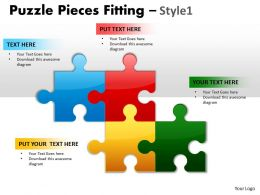 Puzzle Pieces Fitting Style 1 PPT 3