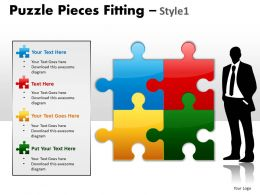 Puzzle Pieces Fitting Style 1 PPT 4
