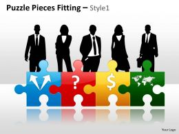 Puzzle Pieces Fitting Style 1 PPT 5
