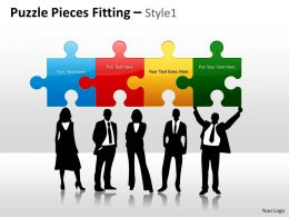 Puzzle Pieces Fitting Style 1 PPT 6