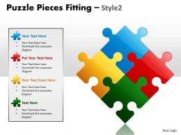 Puzzle Pieces Fitting Style 2 PPT 1