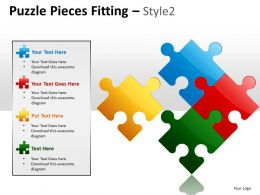 Puzzle Pieces Fitting Style 2 PPT 3