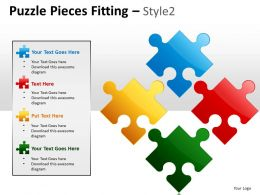 Puzzle Pieces Fitting Style 2 PPT 4