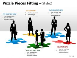 Puzzle Pieces Fitting Style 2 PPT 7