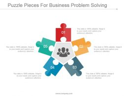 Puzzle Pieces For Business Problem Solving Ppt Templates