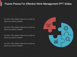 Puzzle Pieces For Effective Work Management Ppt Slides