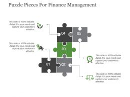 Puzzle Pieces For Finance Management Powerpoint Slide Inspiration