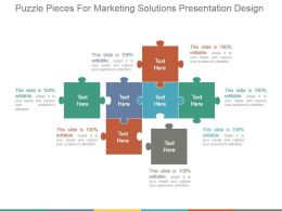 Puzzle Pieces For Marketing Solutions Presentation Design