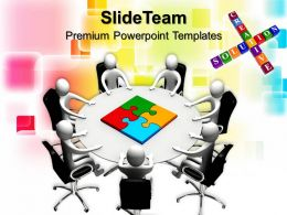 Puzzle Pieces For Powerpoint Templates Board Members Table And Business Ppt Themes