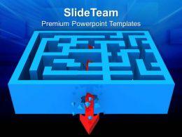 puzzle_pieces_for_powerpoint_templates_breaking_through_maze_arrows_diagram_ppt_presentation_Slide01