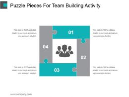 Puzzle Pieces For Team Building Activity Ppt Background