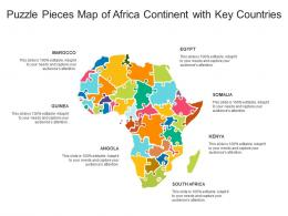 Puzzle Pieces Map Of Africa Continent With Key Countries