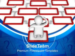 Puzzle Pieces Powerpoint Templates 3d Man Confused Business Ppt