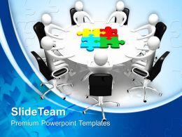 Puzzle Pieces Powerpoint Templates Board Meeting And Jigsaw Ppt Slide