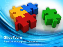 Puzzle Pieces Ppt Powerpoint Templates Solution Business Slides
