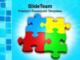 Puzzle Pieces Ppt Powerpoint Templates Team Business Sales Themes
