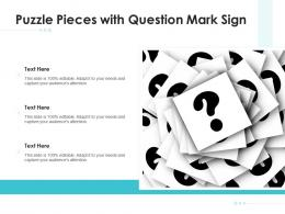 Puzzle Pieces With Question Mark Sign