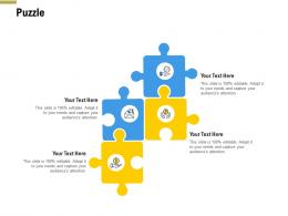 Puzzle Pitch Deck Raise Funding Pre Seed Money Ppt Themes