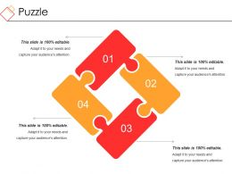 Puzzle Powerpoint Slide Background Picture