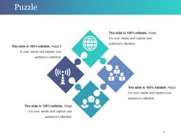 Puzzle Powerpoint Slide Introduction Template 1