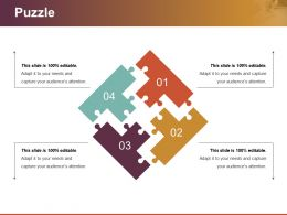 Puzzle Powerpoint Slide Presentation Sample