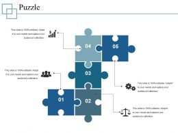 Puzzle Powerpoint Templates Microsoft Template 1