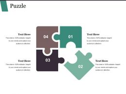 Puzzle Ppt Background Template