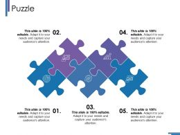 Puzzle Ppt Infographic Template Slide