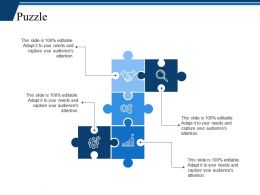 Puzzle Ppt Infographic Template Slide Portrait