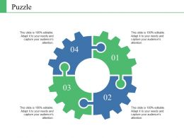 Puzzle Ppt Infographics Grid
