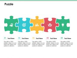 Puzzle Ppt Infographics Slide
