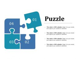Puzzle Ppt Model Icons
